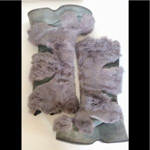 Shoes - European REAL FUR PLATFORM BOOTS